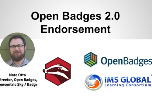 Standard Open badges 2.0 – Endossement (Endorsement)