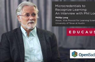 Phil Long : les badges numériques comme système de reconnaissance de l'apprentissage (Learning Recognition System)