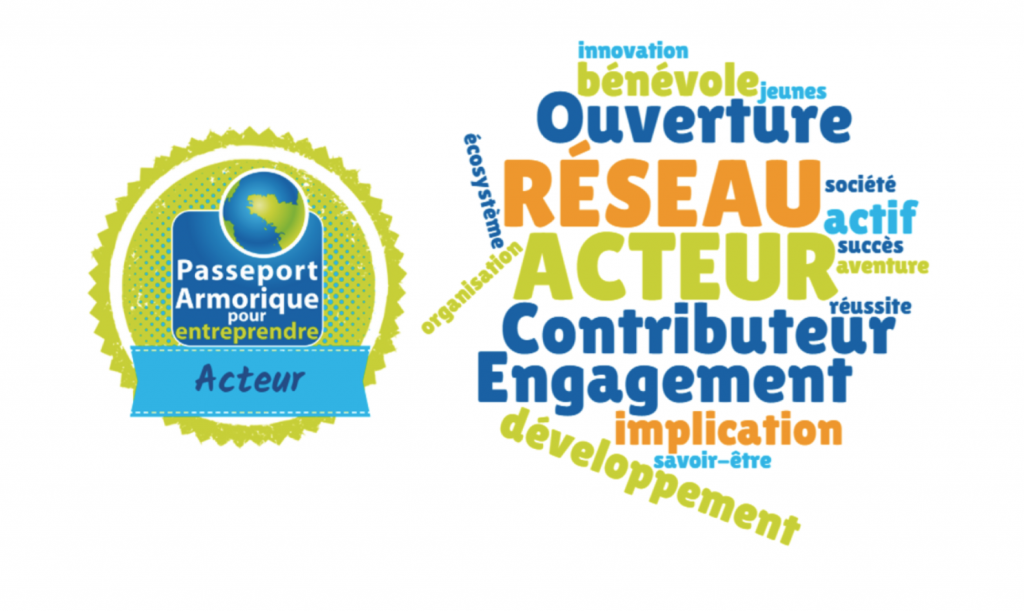 Open digital Badges numériques, passeport Armorique, entrepreneuriat étudiant acteur contribution réseau