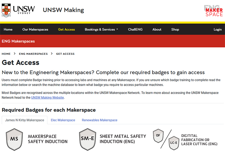 open badges digital credentials ENG makerspaces unsw making